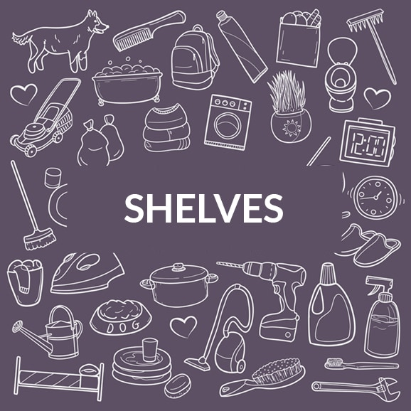 How to get organised with Shelving