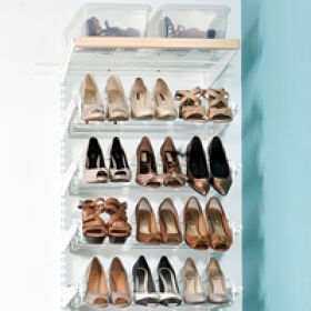 Elfa Decor Shoe Storage Solution