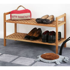 Walnut Wooden Shoe Rack - Stacking