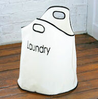 Round Canvas Laundry Bag