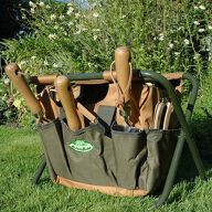 Folding Garden Tool Store & Stool