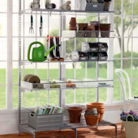 Elfa Freestanding Solution - Garage Shelving
