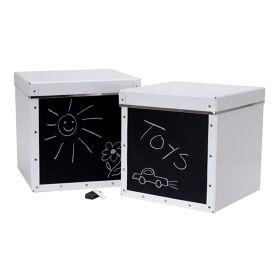 Set of 2 Toy Storage Boxes