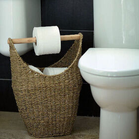 Seagrass Loo Roll Store - Large