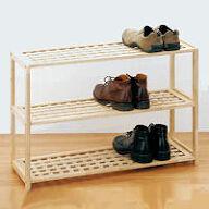3 Tier Wooden Shoe Shelf