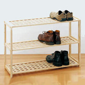 3 Tier Wooden Shoe Shelf