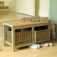 Hallway Storage Bench - 2 Seat
