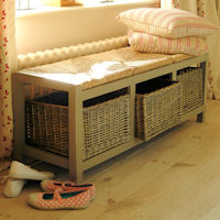 Hallway Storage Bench - 3 Seat