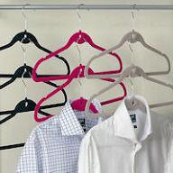 5 x Velvet Coat Hangers