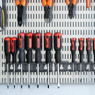 Elfa Multi Holder Screwdriver Store