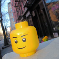 Giant LEGO Man Storage Head