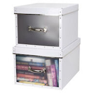 Set of 2 Storage Boxes - Frosted Front