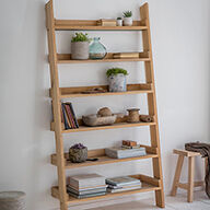 Hambledon Oak Ladder Shelf - Large