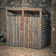Double Wheelie Bin Storage Shed