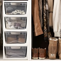 Shoe & Wardrobe Storage Drawers - Small