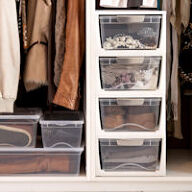 Shoe & Wardrobe Storage Drawers - Large