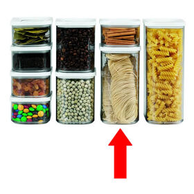 Clear Kitchen Storage Canister - 1500ml