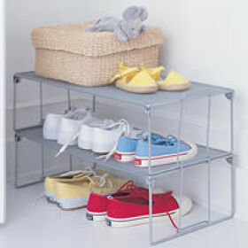 Stackable Mesh Shoe Shelf