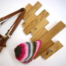 Block - Oak Coat Hook