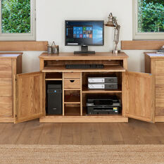 Solid Oak Hidden Home Office - Mobel