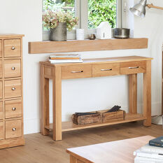 Solid Oak Console Table - Mobel