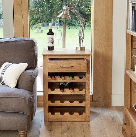 Solid Oak Wine Rack Lamp Table Mobel Baumhaus Wine Racks Barware Store
