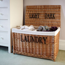 Wicker Laundry Sorter Hamper