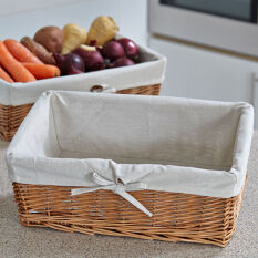 Lined Willow Pantry Basket