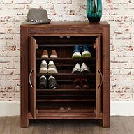 Walnut Shoe Cupboard - Mayan
