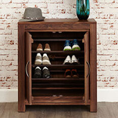 Walnut Shoe Cupboard - Mayan