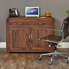 Solid Walnut Hidden Home Office - Shiro
