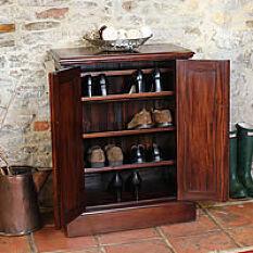 Mahogany Shoe Storage Cabinet - La Roque