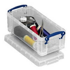 Cotton and Scissors Craft Storage Box - 0.9 Litre