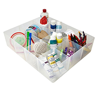 12 Compartment Craft Storage Tray