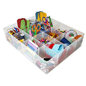 16 Compartment Craft Storage Tray
