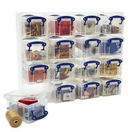 16 x Craft Storage Box Organiser Unit