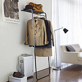 Prop Coat Stand and Storage Shelf