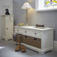 Wooden Hallway Bench and Shoe Store