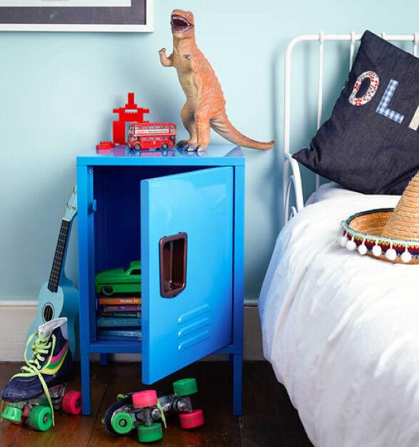 Kids Retro Locker Bedside Cabinet