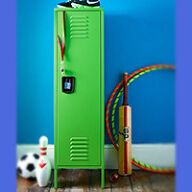Kids Retro Bedroom Locker - Tall