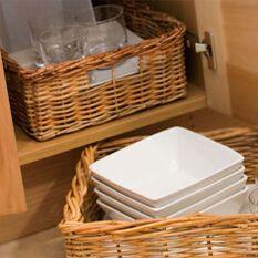 Medium Rectangular Wicker Basket