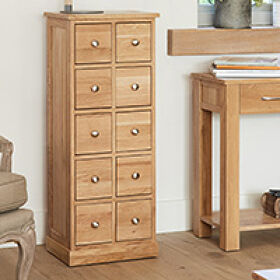 Solid Oak CD & DVD Storage Chest - Mobel