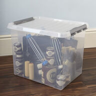 XL Lidded Plastic Storage Box - 52 Ltr