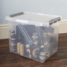 XL Lidded Plastic Storage Box - 52 Ltr