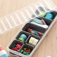 Craft Storage Box & Supplies Trays