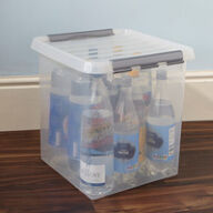 Lidded Plastic Storage Box - 38 Ltr