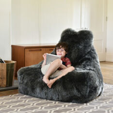 Mighty-B Sheepskin Beanbag Chair - The Furry One