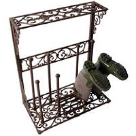 Wellington Boot Rack - Wrought Iron