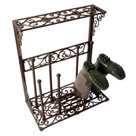Wellington Boot Rack - Wrought Iron