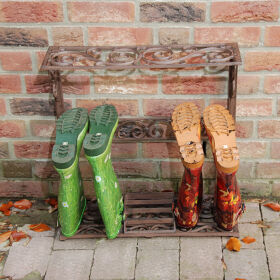 Small Wellington Boot Rack - Wrought Iron